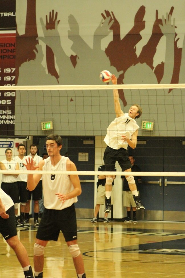 Men's volleyball: CSUN overcomes deficits to get by LBSU in five