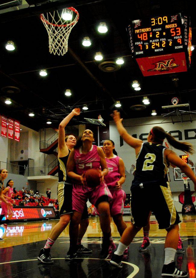 Women's basketball: Matadors rally from 15 points to win against Davis