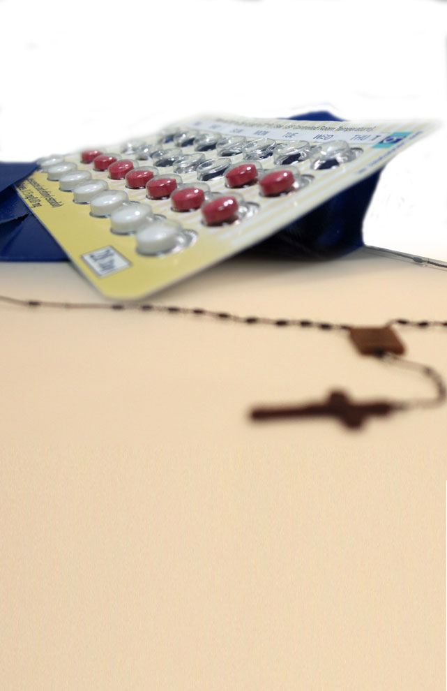 In April 2011, the Guttmacher Institute published the results of an analysis finding that 98 percent of Catholic women that are of reproductive age and have ever had sex use use a method of contraception other than natural family planning.  Photo Illustration by Gabriel Ivan Orenain-Necochea / Visual Editor