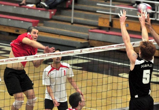 Men's volleyball: CSUN's offense sweeps No. 12 Hawai'i in weekend showdown