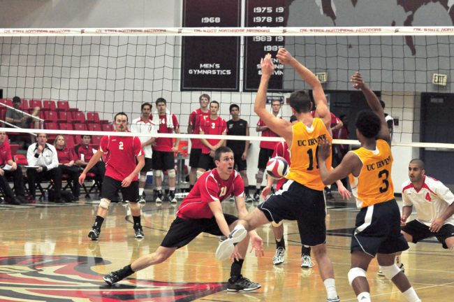 Men's volleyball: Top-ranked UC Irvine comes into Northridge and hits blasting .500 in sweep of Matadors