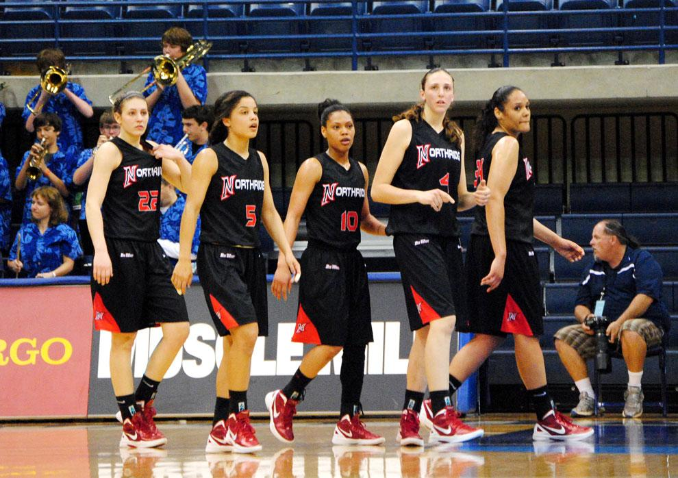 CSUN's starting lineup takes the court in its game against USD Friday night. The Matadors will bring most of their core back for the 2012-13 season. Photo Credit: Andres Aguila / Daily Sundial