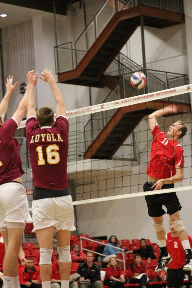 Men's volleyball: Stork, Matadors make quick work of another visiting MIVA team