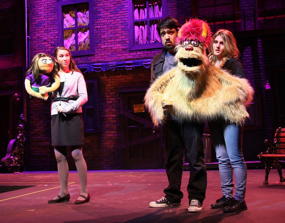 Lauren Tyni's Kate watches as Trekkie Monster (Danny Guerrero with She;by Wane) sings of the