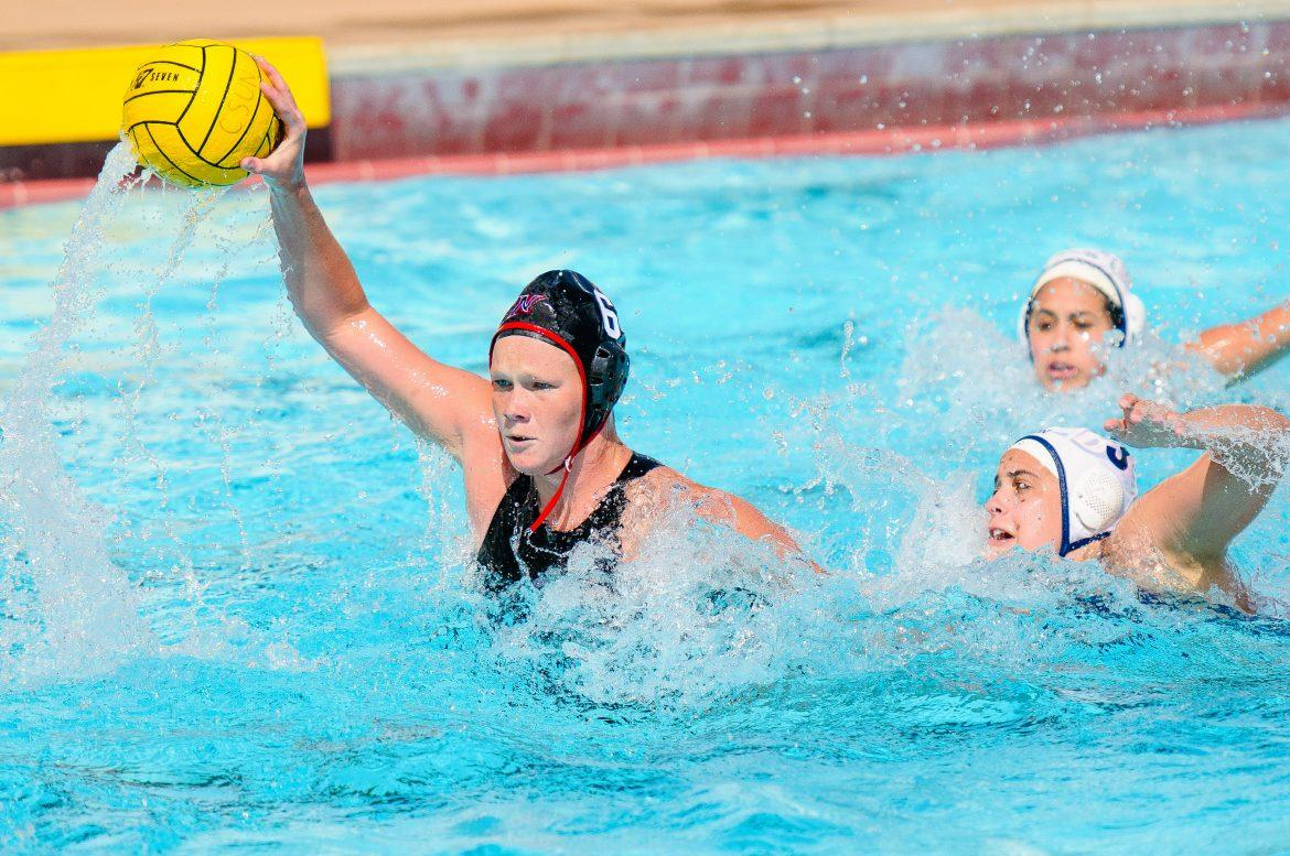 CSUN center Marisa Young goes on an attack in one of her games. Young finished the day with two goals as the Matadors get the 7-5 double-overtime win over Long Beach State in the opening round of the Big West Conference Tournament. Photo Courtesy of CSUN Athletics.