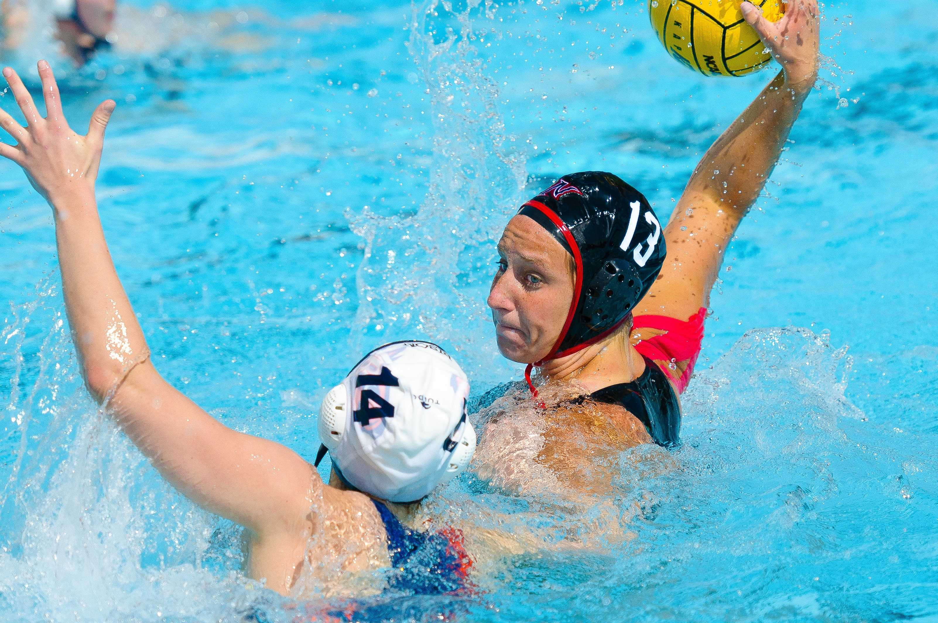 CSUN attacker Melissa Doll goes for a goal in a game. Doll put the Matadors on the scoreboard first as they took third place in the Big West Conference Tournament in a 6-5 victory over UC Santa Barbara Sunday afternoon. Courtesy of CSUN Athletics.