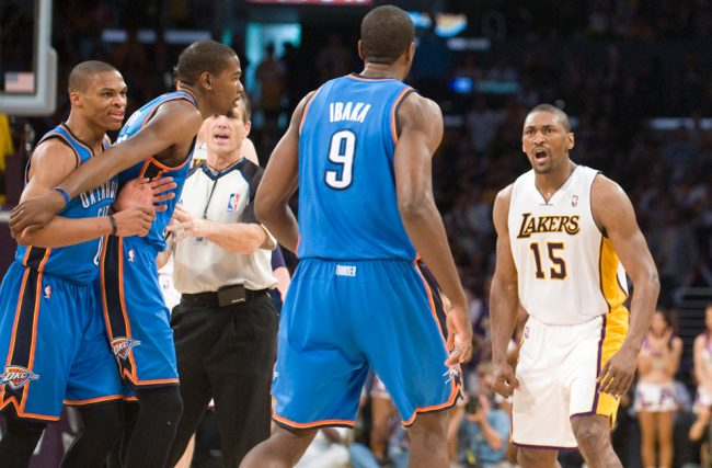 Weekly Column: World Peace's vicious elbow shows Artest still in there somewhere