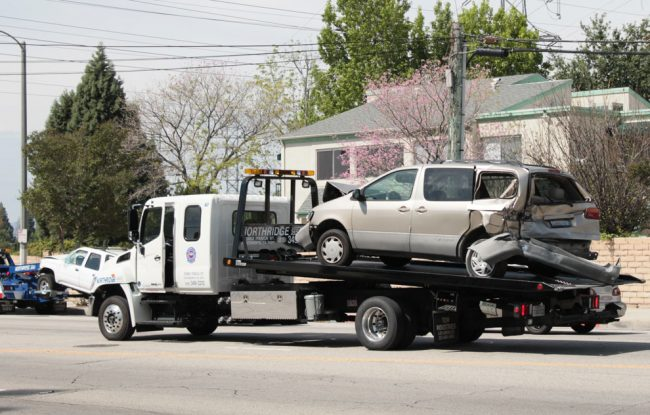 Accident on Reseda Boulevard and Lassen Street causes traffic