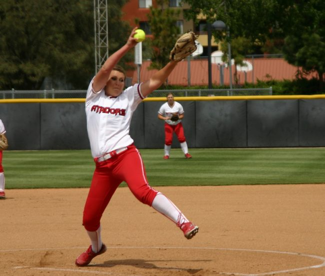 Softball: Matadors done in by Aggie pitcher's one-hitter, swept by UC Davis