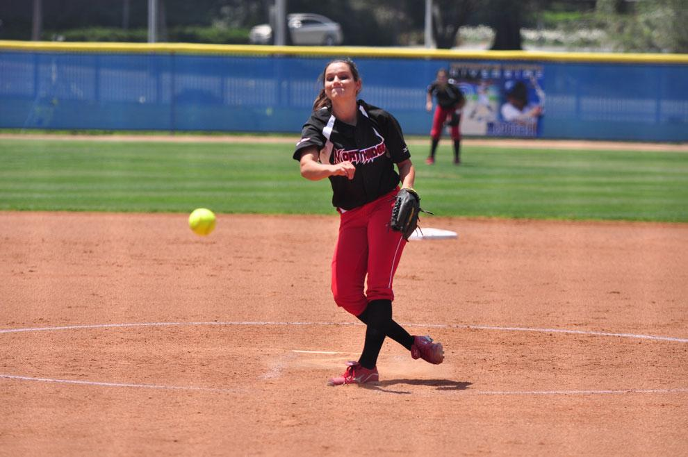 CSUN pitcher Mia Pagano looks for a strike during a game against UC Riverside Saturday. Though the Matadors have only 10 wins this season and a three-game series left, they said they won't let that spoil their season closer this weekend. Photo credit: Anthony Carpio / Sports Editor