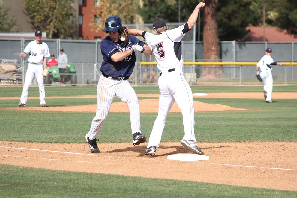 CSUN+infielder+Tommy+Simis+injures+his+left+arm+during+a+game+against+Rhode+Island+on+March+13.+Out+since+the+injury%2C+Simis+is+finally+cleared+to+play.+Photo+credit%3A+Michael+Cheng+%2F+Daily+Sundial