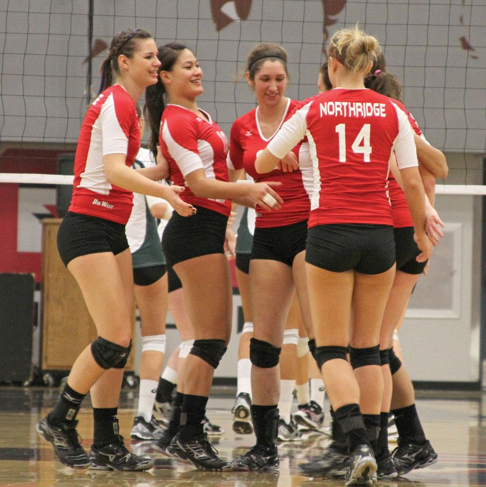 CSUN's women's volleyball team aims for first after winning third in conference in 2011. Photo credit: Mariela Molina / Photo Editor