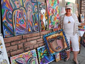 Artists Showcase Their Work at Canoga Park Art Walk