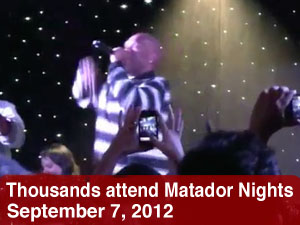 Thousands attend Matador Nights