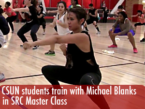 Students train with Michael Blanks in SRC Master Class