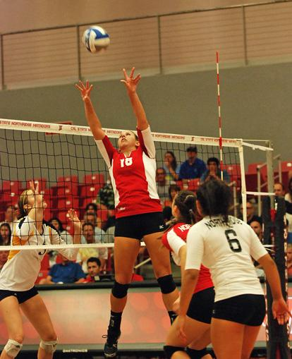 Junior setter Sydney Gedryn and the CSUN offense wasn't enough for CSUN Sunday. Photo credit: Amber Canyon / Contributor