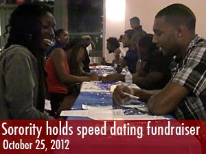 Sorority holds speed dating fundraiser