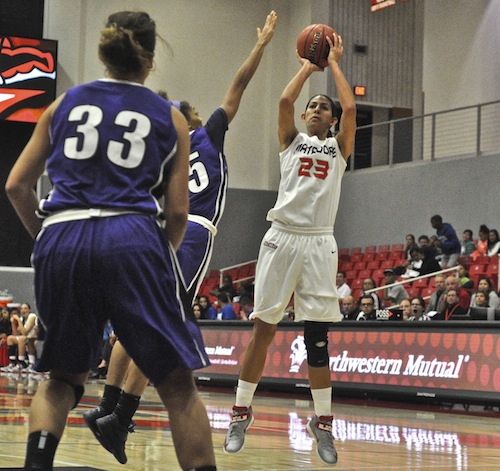 Women's Basketball: Matadors upend Portland in home opener with furious comeback