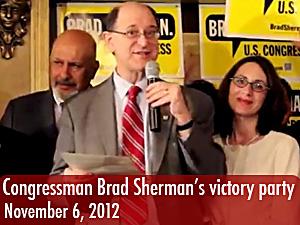 Congressman Brad Sherman celebrates victory