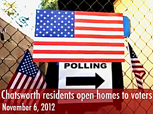 Chatsworth residents open homes to voters