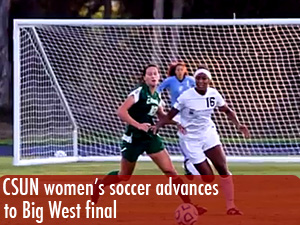 Women's soccer advanced to Big West Final