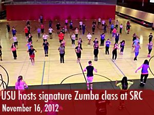 USU hosts signature Zumba class at SRC