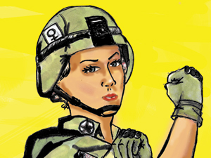 Women combatants in the military is first step in fixing our war-mongering ways