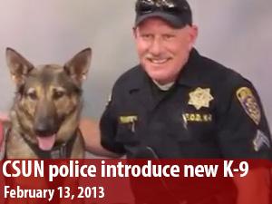 CSUN police introduce new K-9 at meet and greet