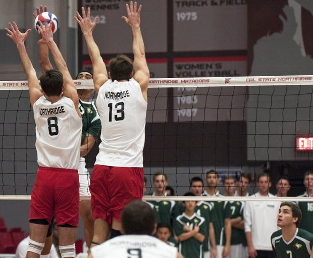 The CSUN men's volleyball team extended their winning streak to six after defeating the USC Trojans on Friday night. (File photo / The Sundial)