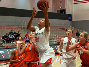 Women's Basketball: Shooting woes and poor second-half defense lead to 74-56 home loss