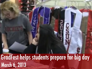 Students visit GradFest to prepare for big day