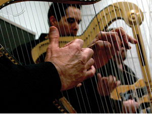 CSUN Chicano studies professor plays the harp in family band