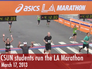 CSUN group runs the LA Marathon