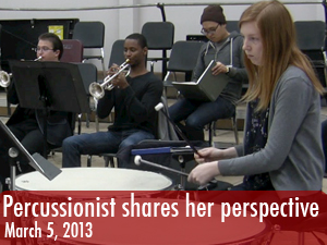 Percussionist shares her perspective on music