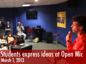 Students express themselves at Open Mic night