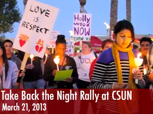 CSUN students protest violence against women at Take Back the Night rally