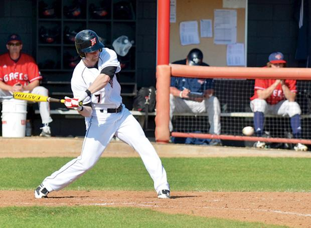 Sophomore designated hitter Kyle Ferramola went 1-for-3 in the Matadors 8-4 win Tuesday afternoon against the University of San Diego. Photo credit by Nathan McMahon/Opinion Editor