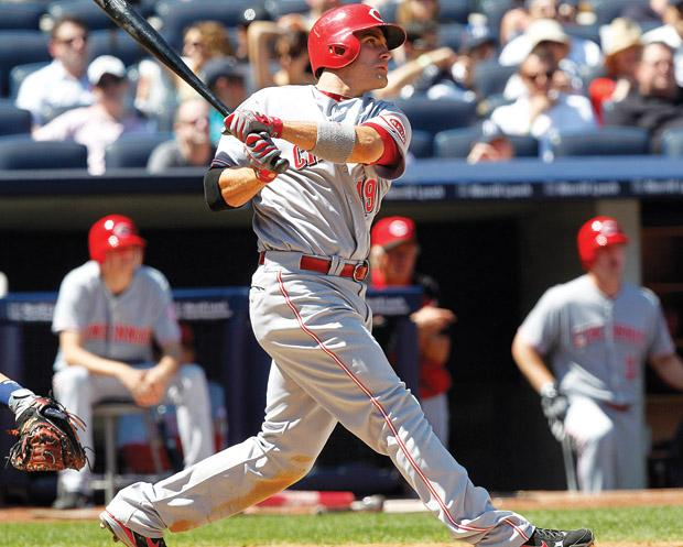 Joey Votto, coming off a season ending injury in 2012, will power a high octane Reds offense. Photo courtesy of MCT