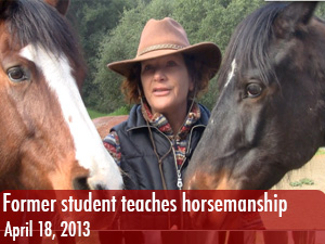 Former CSUN student teaches natural horsemanship lessons at ranch