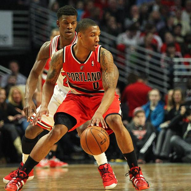 Blazers guard Damian Lillard has proven himself this year by joining Allen Iverson, Damon Stoudamire and Oscar Robertson on the list of rookies who have averaged at least 19 points and six assists. Courtesy of MCT