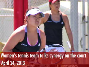 Women's doubles tennis team talks about synergy on the court