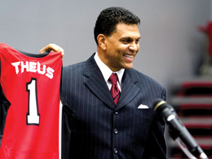 CSUN President Diane Harrison introduces Reggie Theus as head coach in press conference