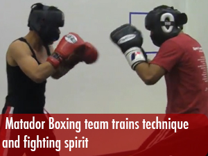 CSUN Matador boxing team trains technique and fighting spirit