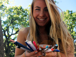 Student heads non-profit that donates pens to needy