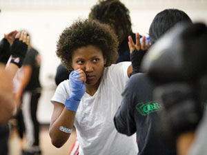 Boxing club teaches boxing basics to students