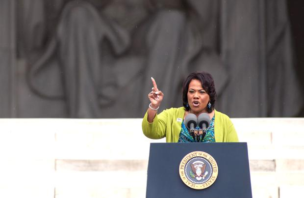 Rev. Bernice King addresses the audience during the Let Freedom Ring ceremony to commemorate the 50th anniversary of the March on Washington for Jobs and Freedom at the Lincoln Memorial in Washington, D.C., Wednesday, Aug. 28. Courtesy of MCT