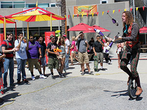Circus-themed Matafest informs freshmen of USU services