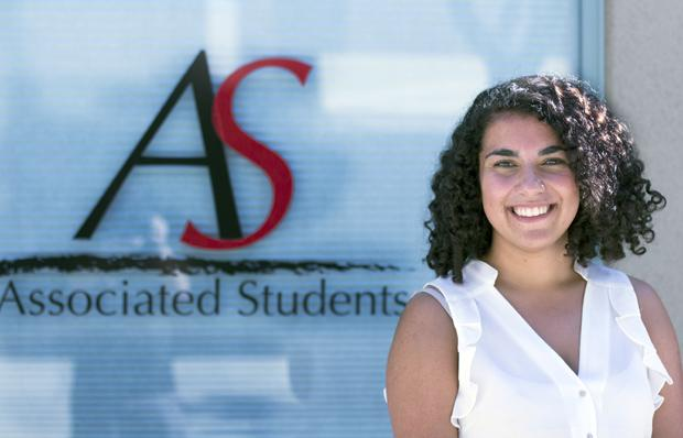 Talar Alexianan, 20-year-old journalism student in her third year, was appointed by Gov. Jerry Brown to a two year term on the California State University Board of Trustees. This is the first time a CSUN student was appointed as a Trustee. Photo credit: Trevor Stamp / Daily Sundial