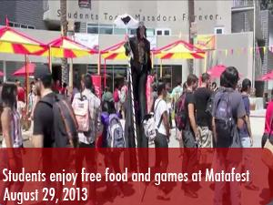 Students enjoy free food and games at Matafest
