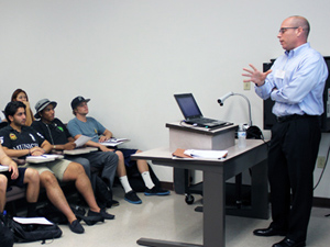 CSUN alumni and business professionals from surrounding communities teach classes for a day